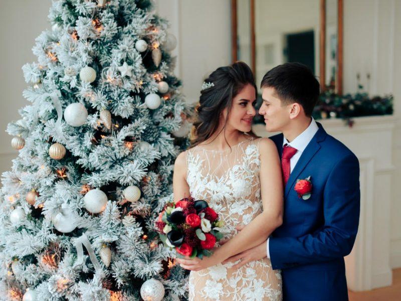 Ślub w święta Bożego Narodzenia w plenerowej odsłonie
